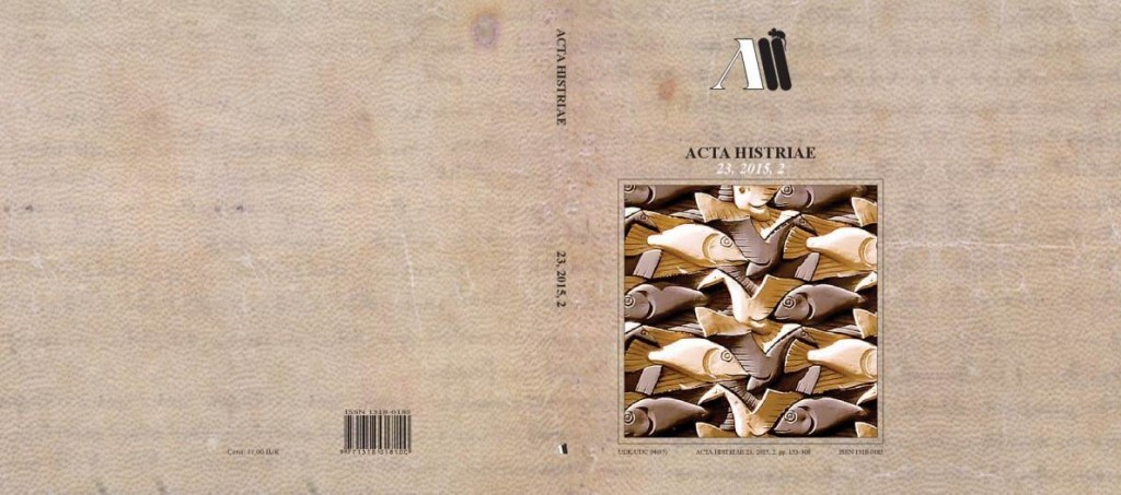 Acta Histriae 2, 23, 2015 - naslovnica_cela