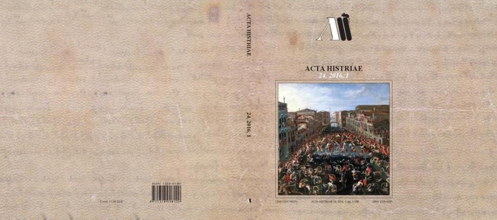 Acta Histriae 1, 24, 2016 - naslovnica_cela
